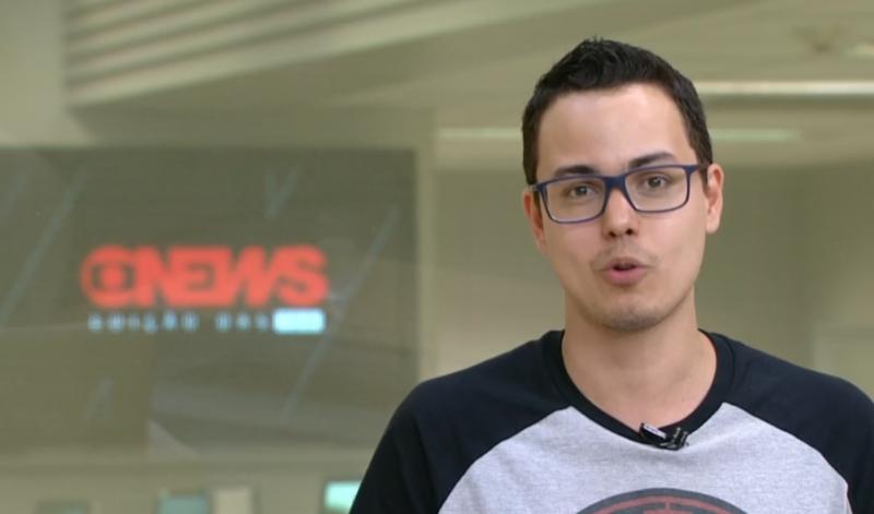 Thássius Veloso no Jornal da GloboNews - Edição das 18H