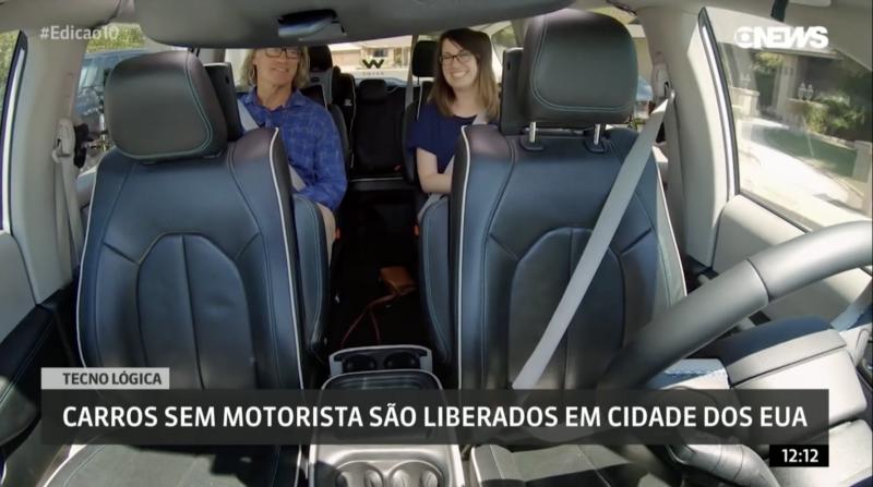 Carro autônomo da Waymo: volante se mexe sozinho